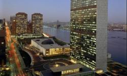 Líderes empresariais reunidos para comemorar os 75 anos das Nações Unidas