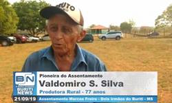 Senhor Valdomiro conta em poucas palavras como foi no início do Assentamento Marcos Freire