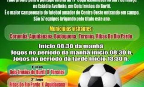 17ª Copa Assomasul será aberta dia 7 de março em Dois Irmãos do Buriti