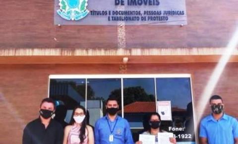 Finalização dos procedimentos perante ao Cartório de Registro de Imóveis de DIB, referente a regularização do Assentamento Marcos Freire.