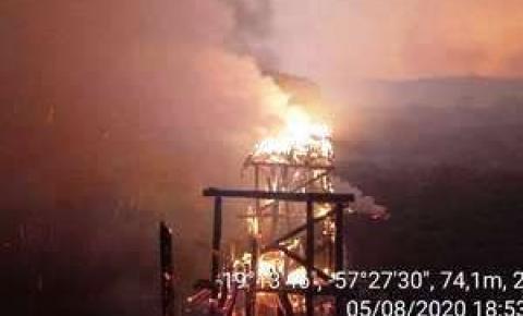 Agesul anuncia reconstrução emergencial de ponte queimada na MS-228