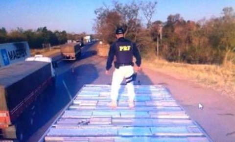 PRF apreende carga de maconha avaliada em mais de R$ 1 milhão em Água Clara