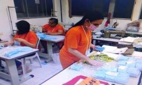 Presídio feminino da Capital trabalha na produção de máscaras para AACC