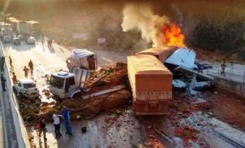 Acidente deixa um morto e ao menos 9 feridos graves na BR-381