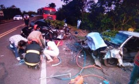 Acidente na BR-262 deixa uma criança e quatro adultos feridos em Aquidauana