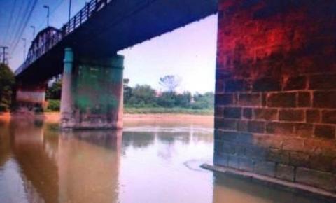Com estiagem e calorão, nível do rio Aquidauana fica abaixo de 1,90 metro