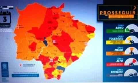 Dois municípios ganham bandeira cinza e Capital volta ao alerta vermelho