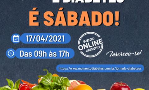 Evento online aborda o universo da alimentação saudável para pessoas com diabetes