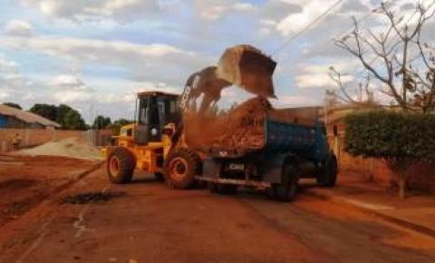 Secretaria Municipal de Obras vem realizando limpeza na sede do Dois Irmãos do Buriti