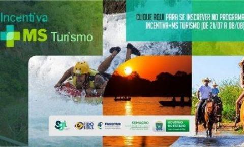 Cadastro para o programa Incentiva+MS Turismo começa nesta quarta-feira (21) e vai até dia 08 de agosto
