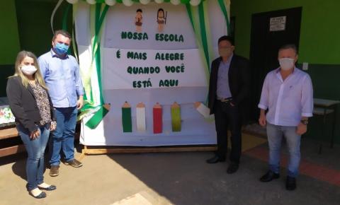 Escola NDETI REGINALDO recebendo nossos alunos.
