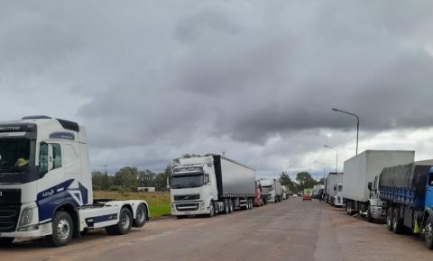 PRF desmente autorização para greve dos caminheiros em MS