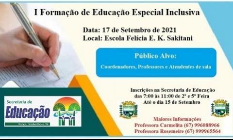I Formação da Educação  Especial Inclusiva.